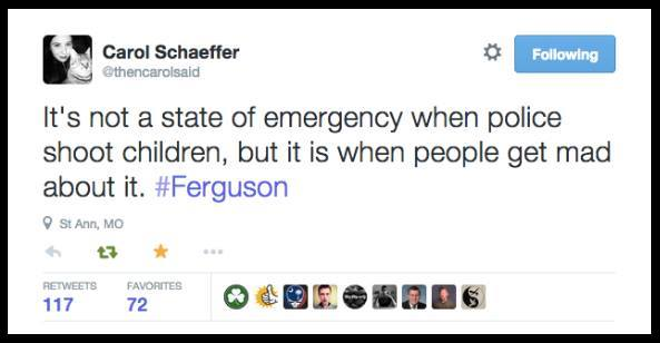 Ferguson TWEET State of Emergency