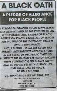 Black contract with blackness