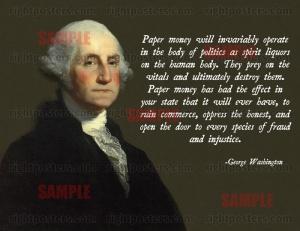 Sound money George Washington Sound