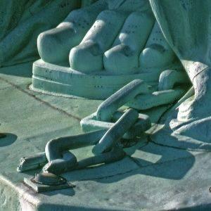 Statute of Liberty chains