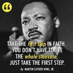 MLK FIRST STEP FAITH