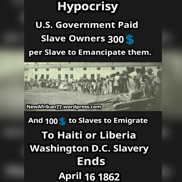 Hypocrissy Slave owner repairations