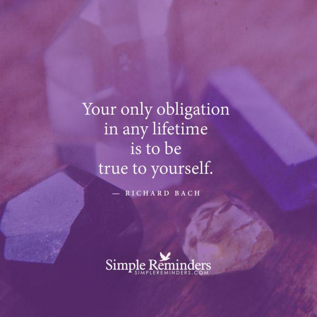 True Self only obligation