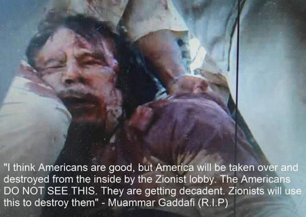 Kadafi Said it