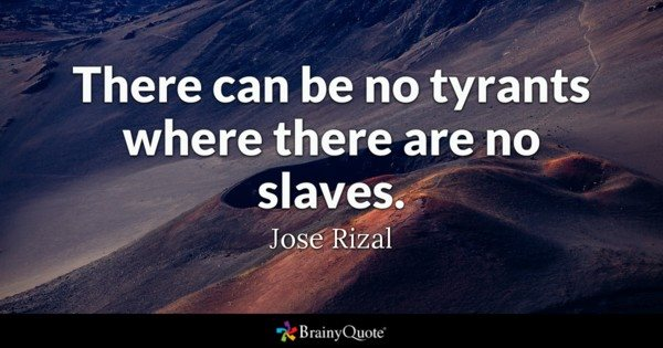 No Tyrants no slaves