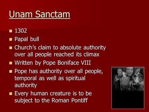 Papal bull unam sanctam-1